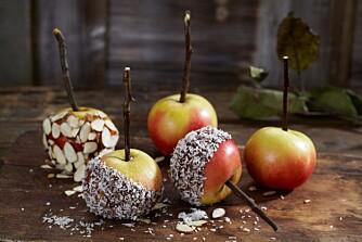 GLASERTE EPLER: Sett tenna i glaserte epler!
