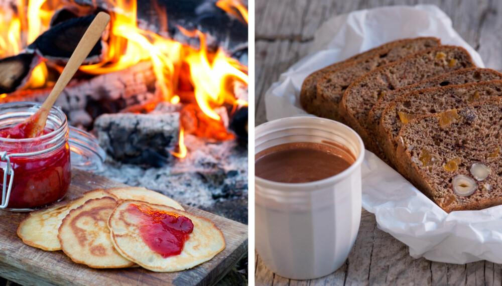DIGG TURMAT: Å pakke med seg noe godt i sekken til å nyte i matpausen gjør turen enda gøyere! Under får du seks forskjellige tips til turmat.