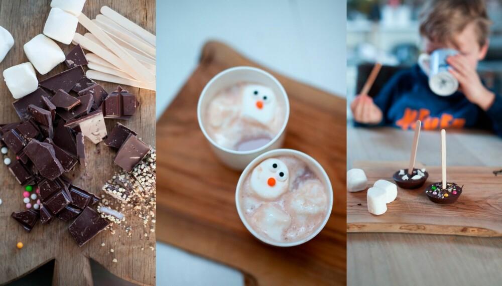 KAKAO PÅ PINNE: Med denne kakaoen blir det ekstra stas å komme inn igjen fra den bitende vinterkulda. Foto: Per Olav Sølvberg.