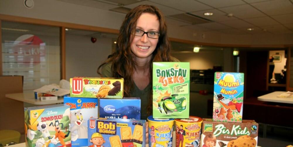 EKSPERT: Ernæringsrådgiver Lise von Krogh har testet innholdet av fiber og sukker i barnekjeks, og det er store forskjeller.