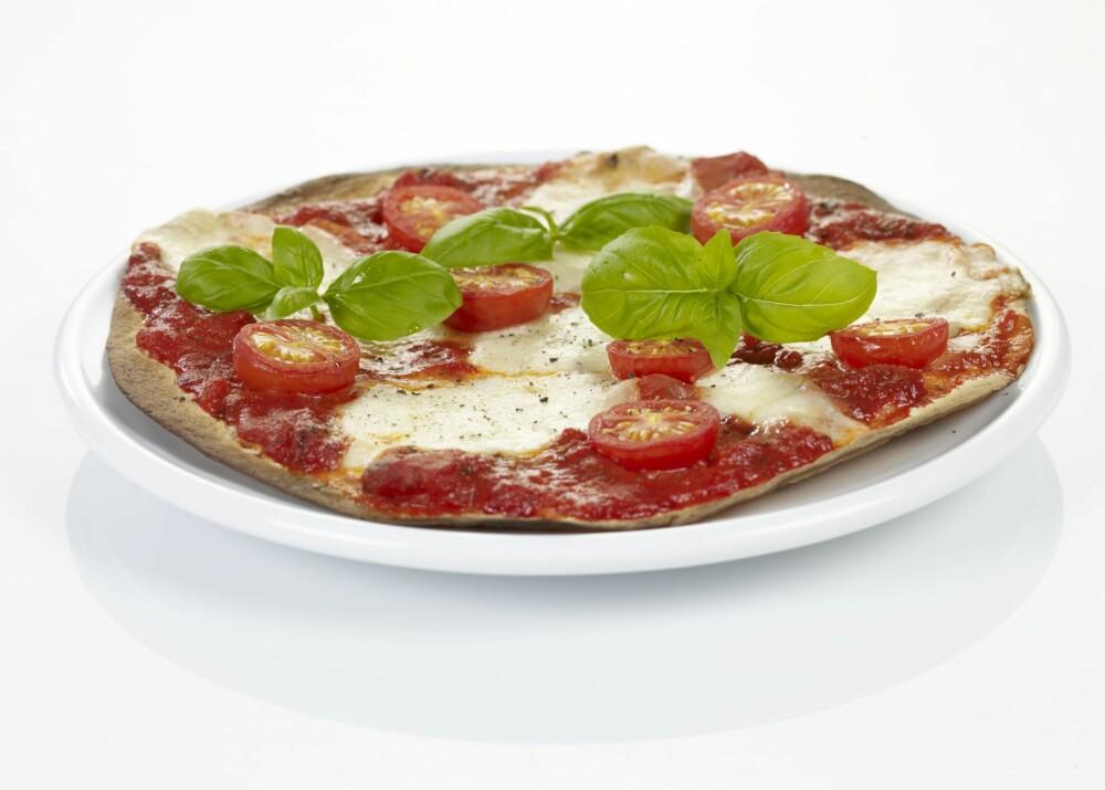 VEGETARPIZZA: Det må ikke være kjøtt på pizzaen for at den skal smake herlig.