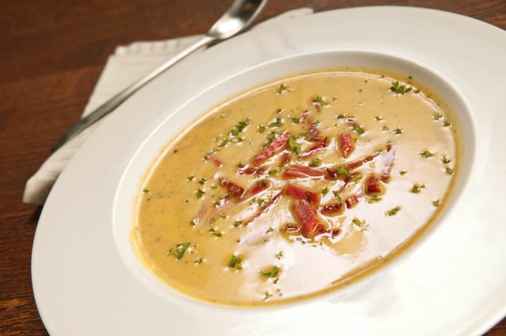 SØTPOTETSUPPE: Denne suppa har vært en vinner blant flere av familiene som har vært med på Sunn Famile-prosjektet.