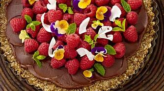 BRINGEBÆRKAKE: Kaker kan også lages med raw food-metoden. Foto: Lisa Westgaard.