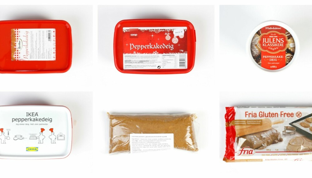 TEST AV PEPPERKAKEDEIG: Vi har sett på næringsinnholdet i årets pepperkakedeiger. Der var det mye mettet fett, salt og sukker.