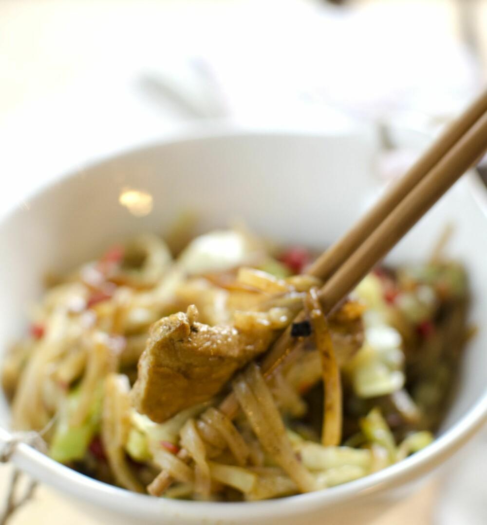 MORO MED SPISEPINNER: Smakfull wok for hele familien.