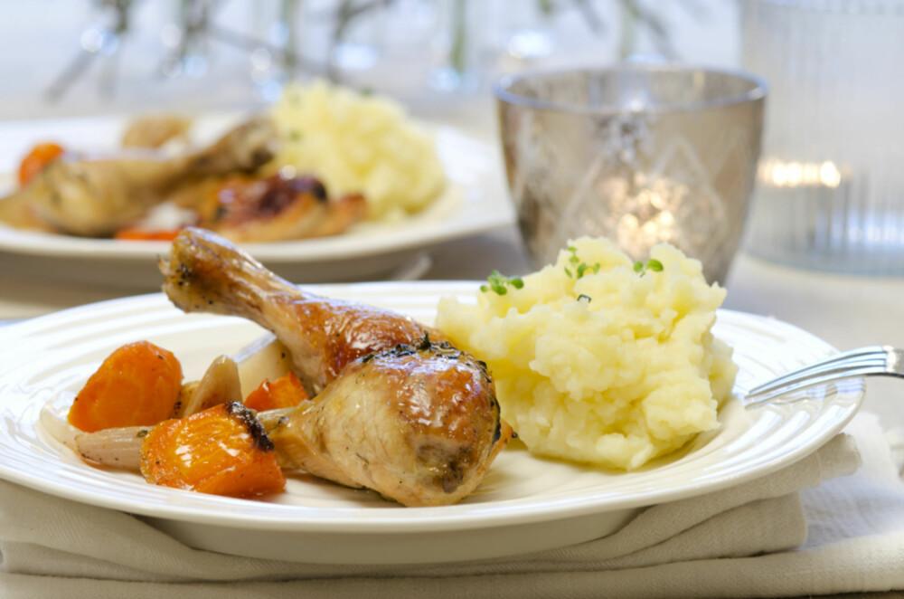 MMMM: Saftig, langstekt kylling med massevis av hvitløk.