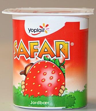 NUMMER 1: Safari apeyoghurt med jordbær.