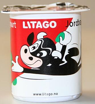 DELT FØRSTEPLASS: Litago laktoseredusert jordbæryoghurt.