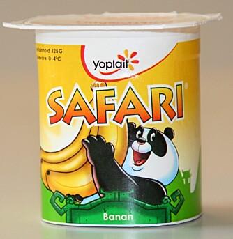 MIDT PÅ TREET: Safari økologisk bananyoghurt.