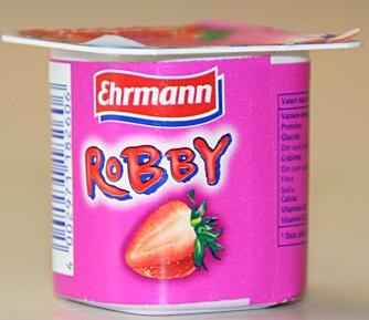 NEST SIST: Ehrmann jordbæryoghurt inneholder nest mest sukker av barneyoghurtene i testen.