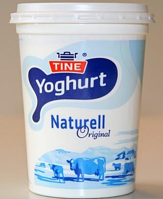 BEST: Yoghurt naturell inneholder lite sukker, og tre ganger mindre enn testens taper.