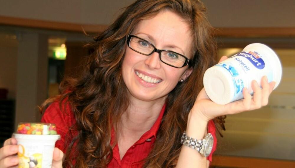 BRA: Ta friske bær og frukter i yoghurt naturell, og du har en mye sunnere yoghurt enn mange av barneyoghurtene, mener ernæringsrådgiver Lise von Krogh.