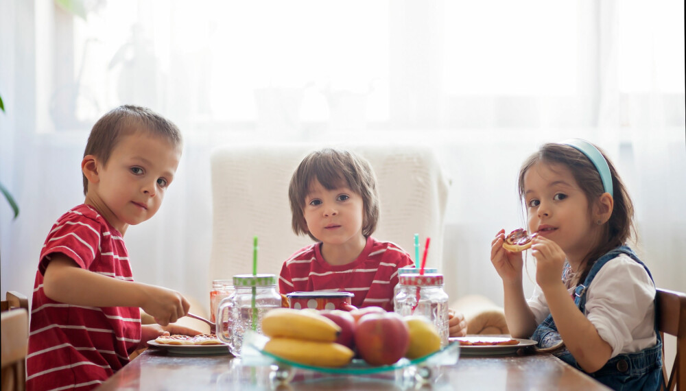 FROKOST TIL BARN: I testen av frokostmåltider har eksperten tatt utgangspunkt i ni populære frokostfavoritter blant barna, og kommentert hvordan foreldrene kan forbedre disse. Foto: Gettyimages.com