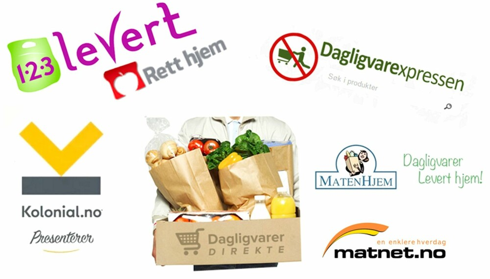 MAT PÅ NETT: Netthandel av dagligvarer kan løse tidsklemme-floker. Den billigste butikken nærmer seg supermarkedprisene, viser Klikks test av sju dagligvarer på nett. FOTO: Skjermdump