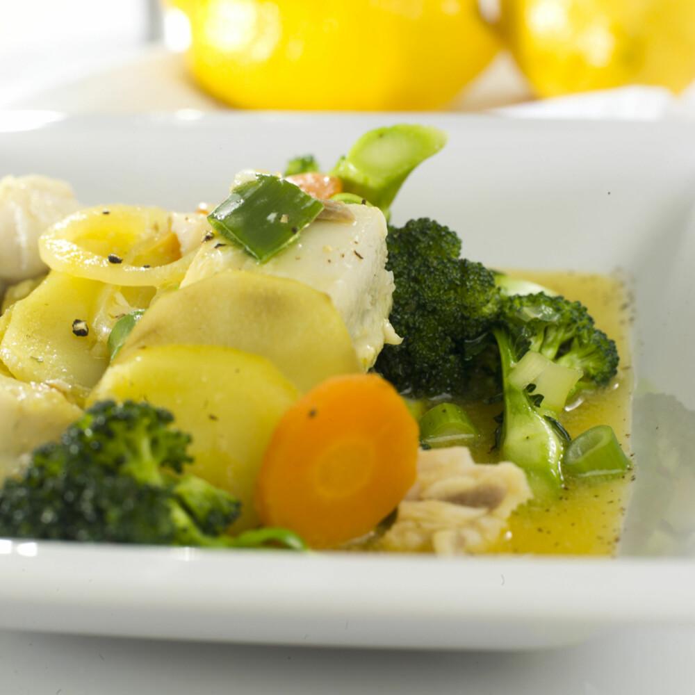 ALT I ETT: Fiskegryte med sei, poteter og safran.