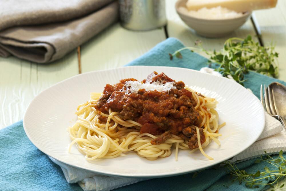 ITALIENSK FREDAG: Spagetti og kjøttsaus