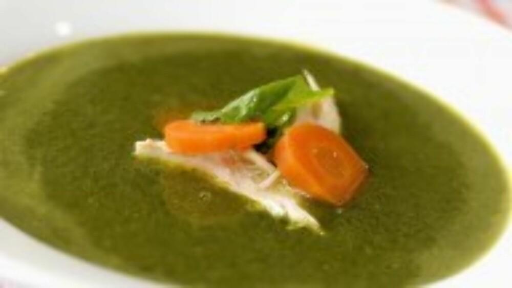 BLI LIKE STERK SOM SKIPPER'N: Det er masse god smak og næring i denne irrgrønne suppen!