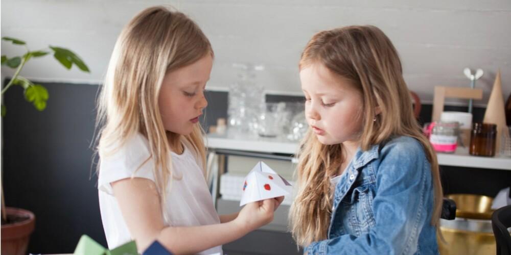 HVORDAN LAGE SPÅ: Når du har laget papirspåen er det på tide å bruke den!