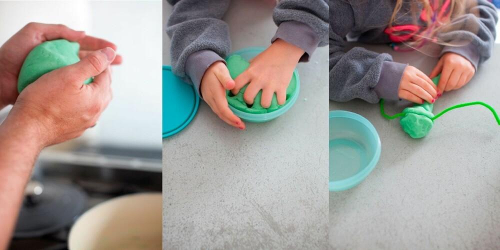 MODELLEIRE: Du vil bli forundret over hvor god og myk den hjemmelagde leiren er å leke med.