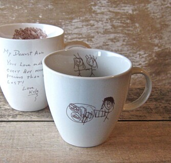 BARNETEGNINGER: I Ohio blir tegningene omgjort til kaffekrus.