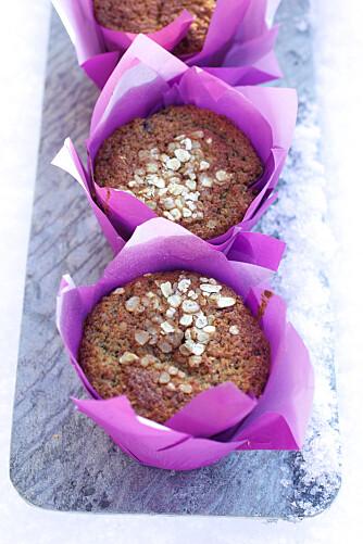 TURMUFFINS: Ferske muffins med blåbær - blir vel ikke bedre da?