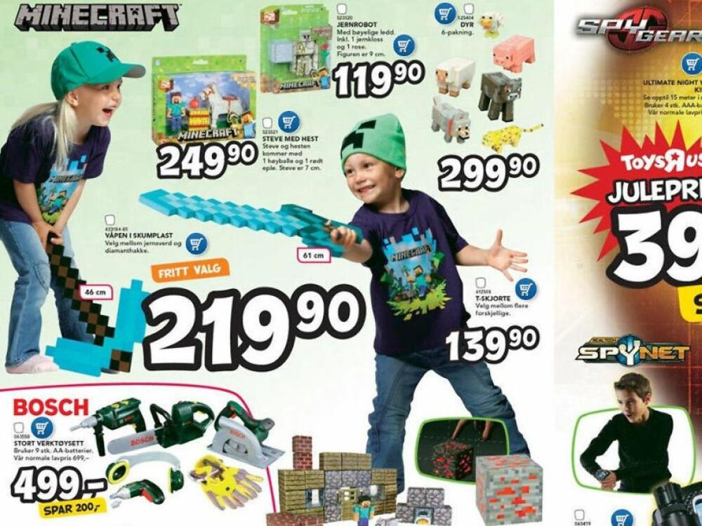 JENTER KAN: Toys R Us har tatt et bevisst valg for å la barna selv velge farger og leker, uavhengig av kjønn.