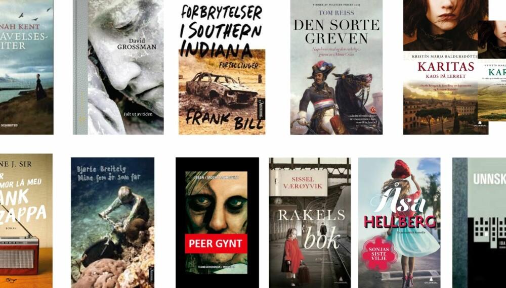 Gode bøker å lese i jula: Disse bøkene mener våre eksperter er de beste som er utgitt i år. FOTO: Forlagene.