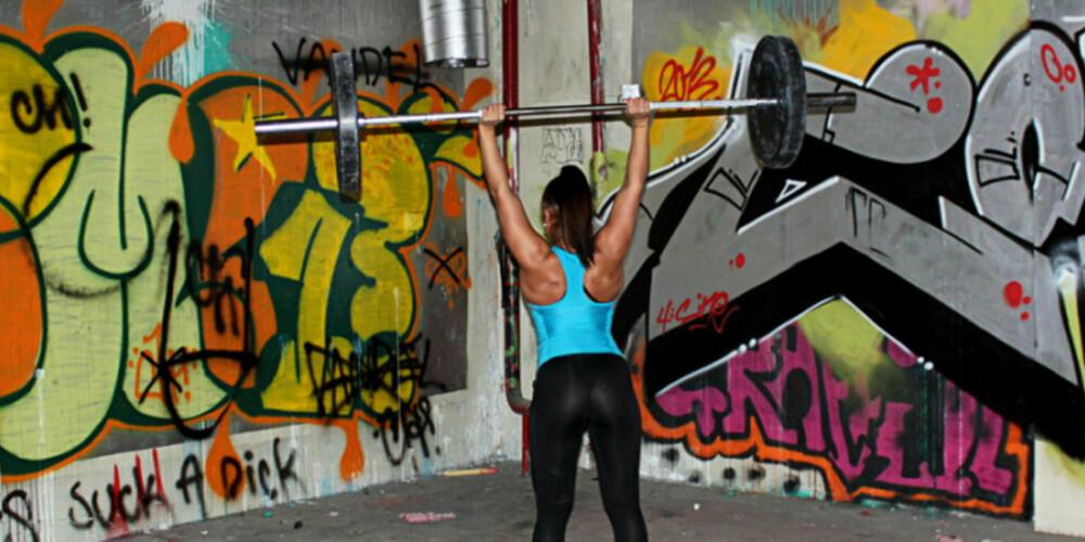 TUNG STYRKETRENING: Styrketrening er den beste treningen hvis du vil forhindre skader, ifølge Svanevik. Foto: Privat