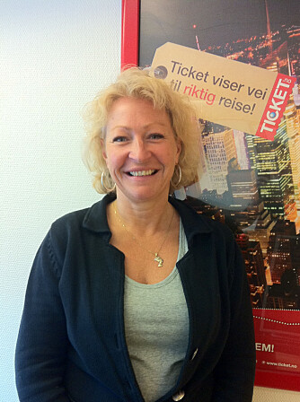 TICKETS: Ellen Wolff Andresen ved Ticket Feriereiser AS.
