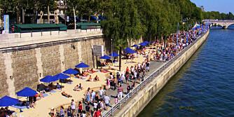 PARIS PLAGES: Sjekk Syden-stemningen - minus Harry-faktor - du finner langs bredden av Seinen om sommeren.
