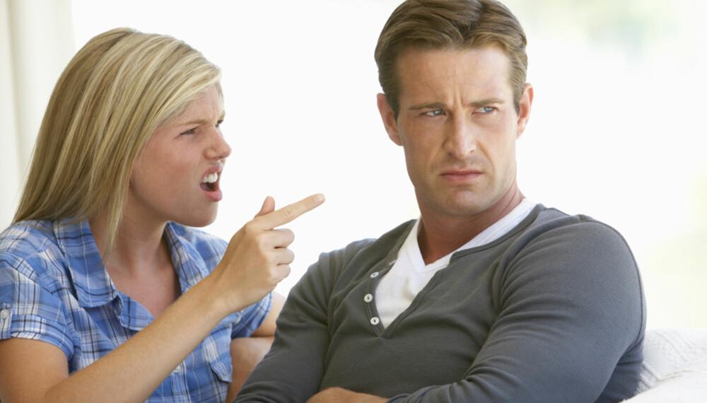 HØY TEMPERATUR: Å krangle er noe de aller fleste par har erfaring med. Her er krangletabbene du bør unngå.