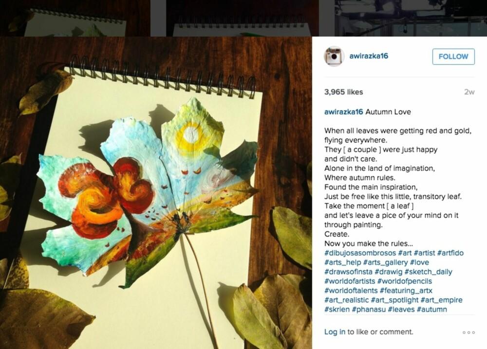 INSTA: Johannas instagramkonto har mange nydelige blader og poetisk tekst til.