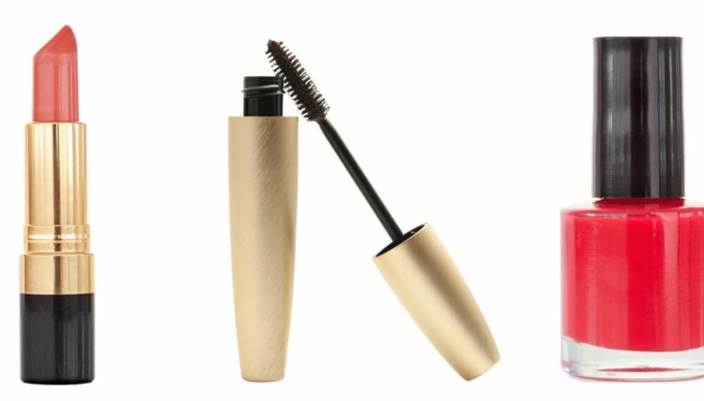 BILLIG LIKE BRA: Leppestift, maskara og neglelakk kan like gjerne kjøpes billig.