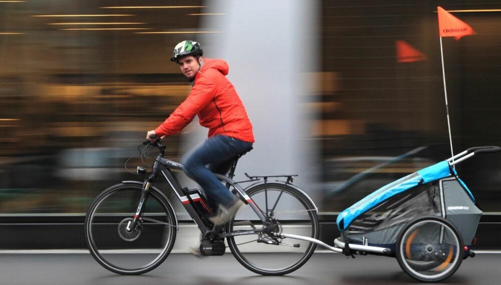 SPAR KREFTER: Det kan være mange grunner til at en elsykkel kan gjøre hverdagen litt enklere. FOTO: Egil Nordlien HM Foto