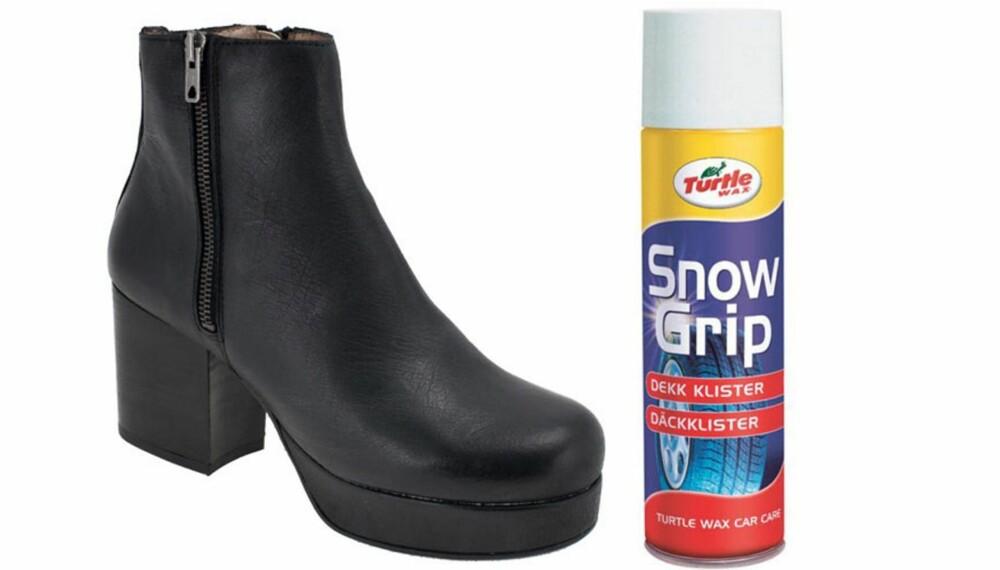 56f6a325 KJETTING PÅ BOKS: Gjør som bilførere gjør med dekkene og spray for eksempel  Snow grip