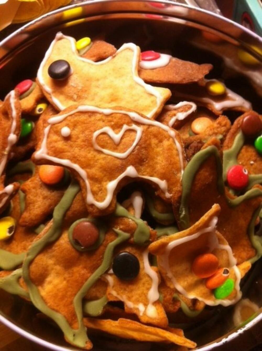 FIKS FERDIG: Send ungene til besteforeldre for å lage pepperkaker, råder Elisabeth. FOTO: Privat.