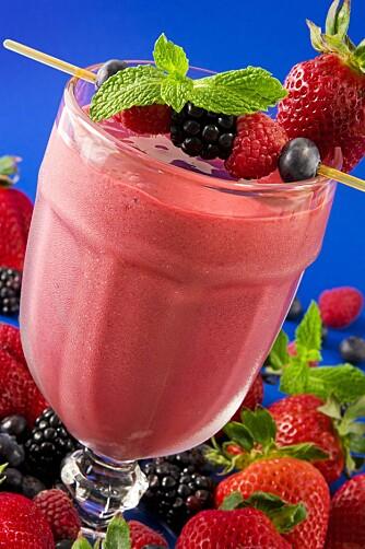 FRISTENDE: Å mikse sin egen smoothie eller juice gjør det gjerne ekstra fristende å drikke siden du bruker rene råvarer og vet nøyaktig hva du drikker.