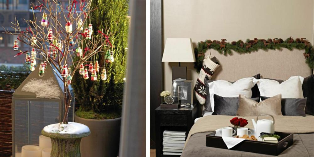 PYNT SENGEN: Litt julepynt rundt omkring kan skape like mye steming som et stort tre i stua.