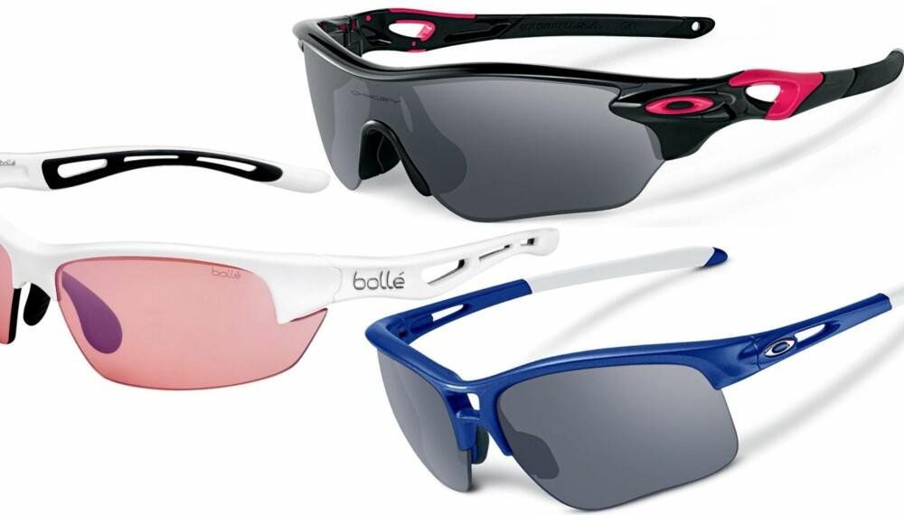 SOLBRILLER: Klikk Helse, ShapeUp og Bedre Helse har testet 11 par solbriller til trening.