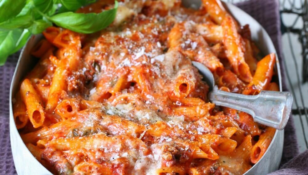 PASTA I FORM: Dropp lasagnen og lag denne i stedet.