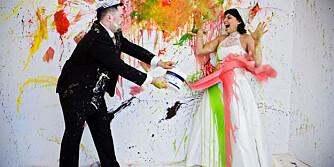 TRASH THE DRESS: Nå kommer brudebildetrenden til Norge.