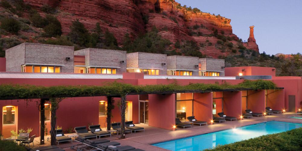 ARIZONA: På  Mii amo Spa i Arizonas hete ørken kan dere nyte romantikken og få trent dere til lekrere kropp på en og samme bryllupsreise.