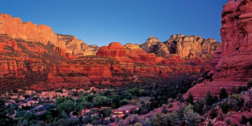 ØRKEN: Midt i Arizona i USA ligger all-inclusive spaet  Mii amo Spa.