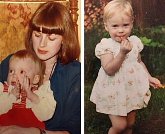 Til venstre: BODDE TRANGT: I nesten ett år bodde Silje og moren på 16 kvadratmeter i Oslo. Til høyre: FIN BARNDOM: Silje var en glad jente i hjemmesydde kjoler.