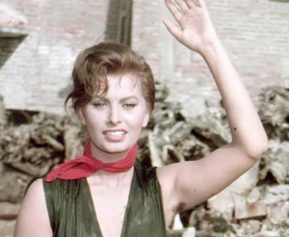 SOPHIA LOREN: Skjønnhetsikon med fluffy, hårete underarmer.