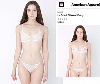SENSURERER: American Apparel har begynt å fotoshoppe vekk brystvorter og kjønnshår på modellene i katalogen sin.