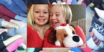 FINT Å VÆRE ANNERLEDES: Nathea med storesøster Noelle.