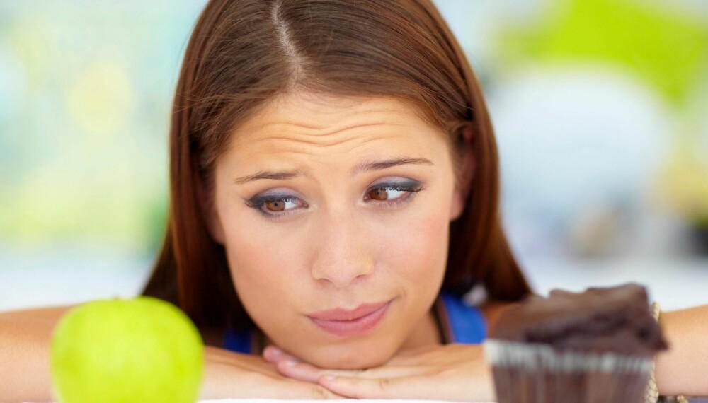 """TANKEN: Ofte er det ikke godbiten i seg selv som ødelegger dietten, men heller tanken om at """"nå er alt ødelagt"""". FOTO: Thinkstock"""