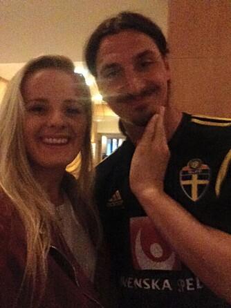 IDOL: Martine da hun møtte sitt store idol, Zlatan Ibrahimovic.