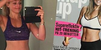 COVERGIRL: I begynnelsen av januar prydet Pia Seeberg forsiden av ShapeUp. Det endte med at hun måtte gå litt i seg selv.
